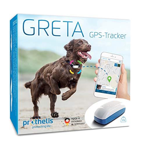 Prothelis Greta GPS Tracker Hund inkl. App - Das Innovative GPS Gerät für Hunde Made in Germany