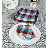 Home Creations Pack Of 6pcs Cotton Kitchen Napkin/Kitchen Towel/Roti Cover (18 * 18 Inch) Assorted Color (6, 18 X 18)