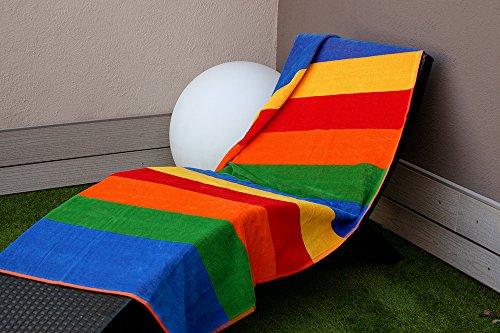 Montse interiors telo mare stampato cotone egiziano 100% multicolore