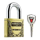 Mindy antifurto coperchio in acciaio lucchetti con chiave bronzo vintage serrature di sicurezza con tasti A4, bronzo
