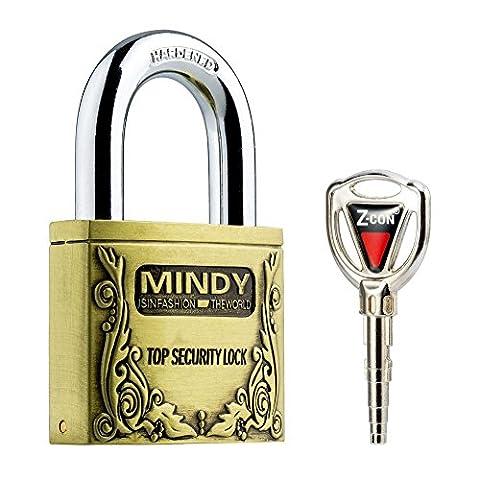 Mindy Anti-Theft Hard Steel Keyed Padlocks High Security Bronze Vintage Locks with Keys A4-40