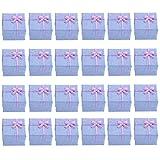 NUOLUX 24 Kleine Geschenkboxen Set 4*4*3cm(Lila)