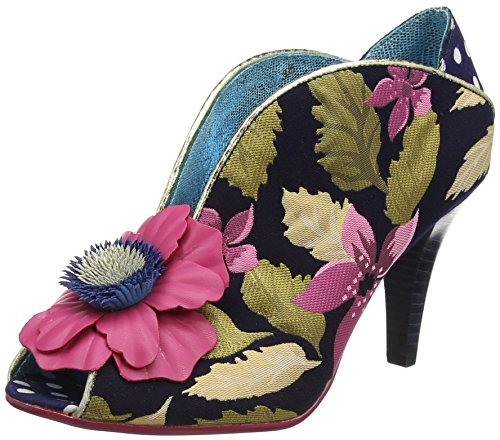 Poetic Licence by Irregular Choice Rita Primrose, Escarpins Bout Ouvert Femme, Blue (Blue (Navy/Pink