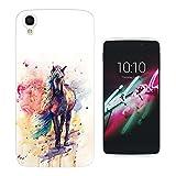 003565 - Fantasy Colourful Horse Painting Design ALCATEL