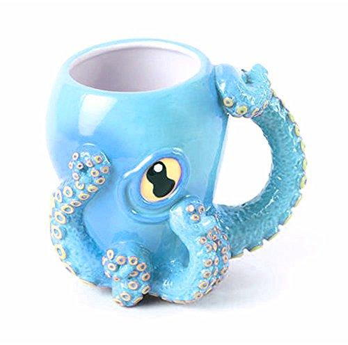 mik 3D Kaffeebecher mit Tentakel-Griff (Blau) ()