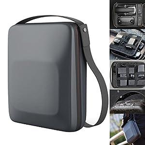 Kismaple Mavic Air Housse de transport rigide Sac de rangement, Valise portable Imperméable Épaule sac à main pour DJI Mavic Air Drone, contrôleur, batterie et accessoires