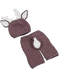 TOOGOO Accesorios para fotos de bebe Traje equipo de bebe de punto ninos  ninas bebe Sombrero 053cc759cf0