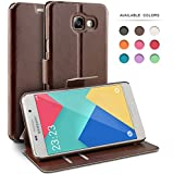 Coque Samsung Galaxy A3 (2016), TheBlingZ.® Housse Etui Cuir PU Coque pour Samsung Galaxy A3 (2016) - Marron