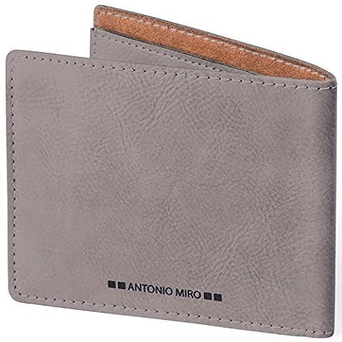 ANTONIO MIRO Portefeuille en cuir avec 9 compartiments - Satisfaction