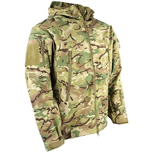 Kombat UK Herren Patriot Soft Shell Jacke, Mehrfarbig, L (Security Velcro Patch)