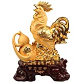 Manualidades gallo modelo Plating resina decoración tienda abierta regalo creativo