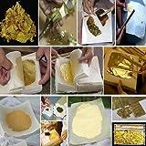 100 hojas de pan de oro de 24 quilates de 14 x 14 cm para manualidades