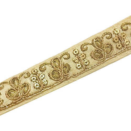 Eerafashionicing 9.5 mtr Gold Color Fabric Laces for Dresses