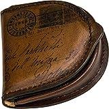 Artiglieria Fiorentina - Herren Münzbörse Leder mit Bild der alten Postkarte - Made in Italy (dunkelbraun)