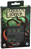 W-Workshop Fantasy Flight - Set di dadi per il gioco Arkham Horror, colore: Verde/Nero