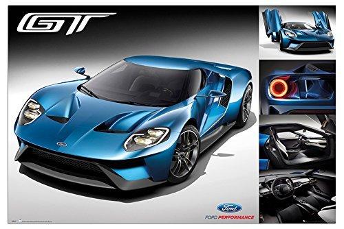 ford-gt-2016-supercar-poster-laminato-satinato-opaco-915-x-61cm-36-x-24-pollici