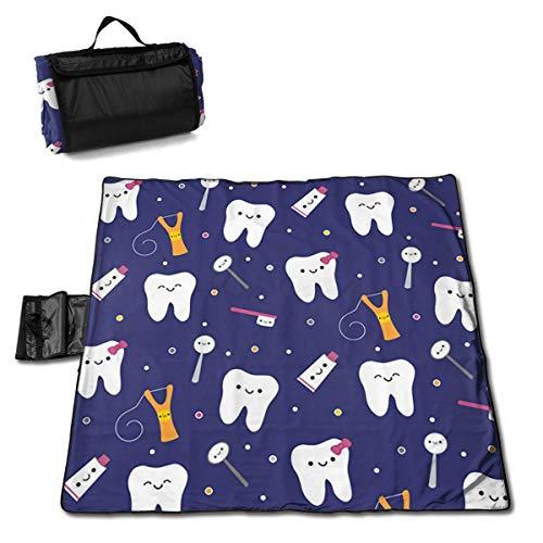 Teeth Tools Folding Portable Picnic Blanket 57