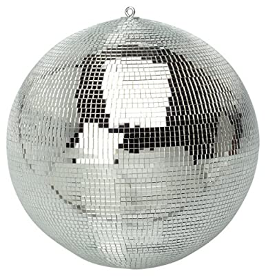Brand New Soundlab Silver 300mm Lightweight Disco Mirror Ball Lighting Effect - low-cost UK light store.