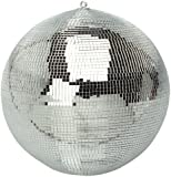 FXLab G007A 8-Inch Party Disco Mirror Ball - Shiny Silver