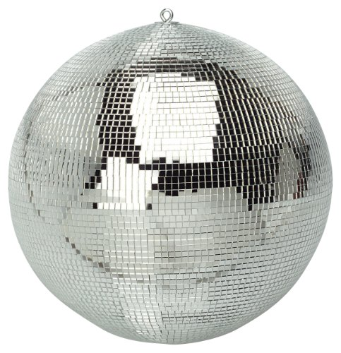 Silver Disco Mirror Ball - 12 inch.