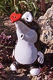 Dekostüberl Keramik Maulwurf Manni mit Herznase 18x11cm Handarbeit Gartenstecker Tierfigur