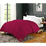 AVI Soft Micro Polyester AC Quilt 200 GSM Double Bed Comforter/Blanket/Duvet for Summers-90x100 Wine