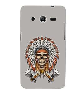 EPICCASE Skull Axe Indian Mobile Back Case Cover For Samsung Galaxy Core 2 (Designer Case)