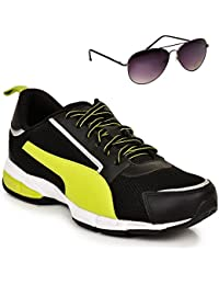 Puma Triton Black & Sports Shoe With TNF Men 100% UV UK