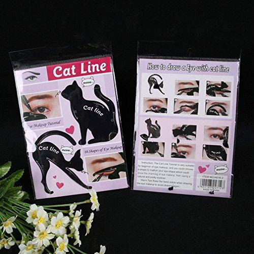 Dgge DMMS - Plantilla delineador ojos gatos, herramientas