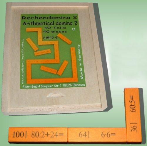 Le domino de calcul II de 40 parts, maths de calcul de pièce de 16 x de 20 x de 3 cm apprennent le jeu mental