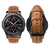 iBazal 22mm Bracelet Cuir Bandes Compatible avec Samsung Gear S3 Frontier...