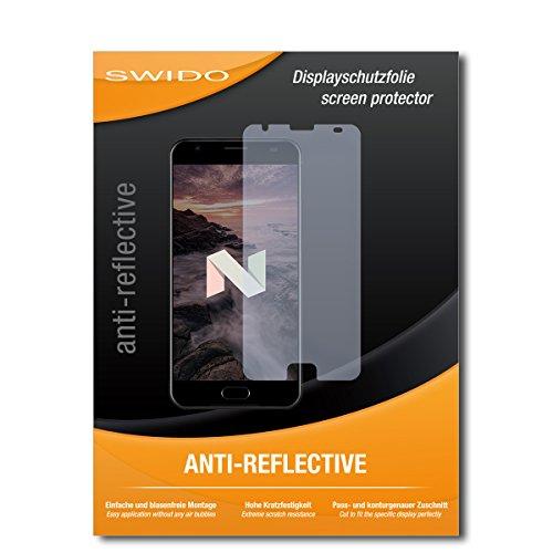 SWIDO Schutzfolie für Ulefone Power 2 [2 Stück] Anti-Reflex MATT Entspiegelnd, Hoher Härtegrad, Schutz vor Kratzer/Bildschirmschutz, Bildschirmschutzfolie, Panzerglas-Folie