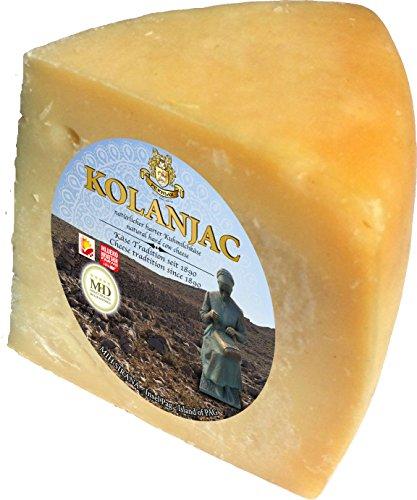 Pager Käse Kolanjac min 300g halbharter Kuhmilchkäse aus Dalmatien mit Meersalz aus der Saline von Pag