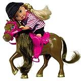 El Evi Pony Dunkelbraun inkl Puppe im tollen Reiter-Outfit