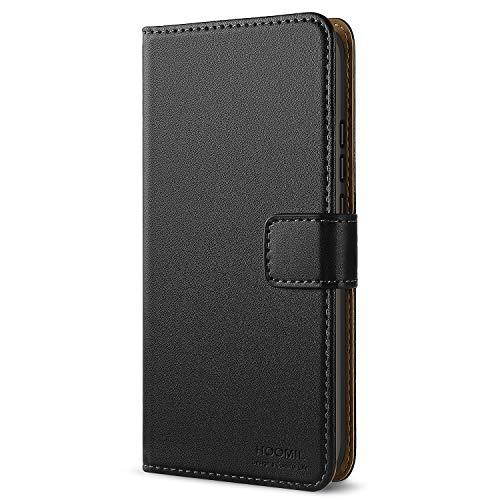 HOOMIL Honor 10 Hülle, Leder Flip Case Handyhülle für Huawei Honor 10 Tasche Brieftasche Schutzhülle - Schwarz (H3288)
