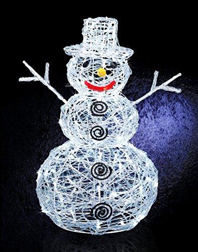 DECO NOEL - Bonhomme de neige lumineux 96 lampes LED Blanches