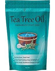 Teebaumöl Fußbad Mit Bittersalz, Heilanzeigen Nagel Pilz, Fußpilz Und Fußgeruch Hartnäckige 16 Unzen