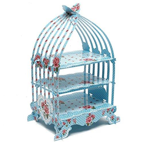 Fluff Trim (Vintage blau Vogelkäfig Cupcake-Ständer-British ländlichen Serie Papier Décor für festliche und besondere Anlässe von trimmen Shop®)