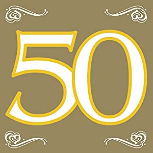 servietten gold dessign 50 goldene hochzeit jeux et jouets. Black Bedroom Furniture Sets. Home Design Ideas