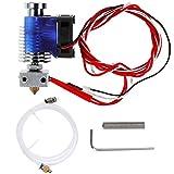 Anpro Metall E3D V6 metal/teflon Extruder J head bowden hotend kit mit 0.4mm Düse, Teflon Schlauch, Lüfter Filament 3D Drucker printer, Blau