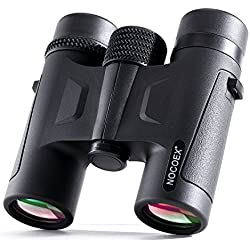 NOCOEX Prismáticos Pequeños Mini HD Con Prismas de Techo (Roof) 10X26. Color Negro