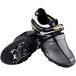 WESTGIRL - Cubiertas Reflectantes para Zapatos de Ciclismo (Impermeables, Resistentes al Viento), Negro, Large