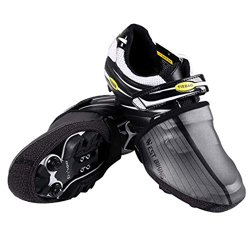 WESTGIRL per Scarpe da Ciclismo Copre Riflettente Mezza Shoecover Impermeabile Antivento Bici Scarpe Copriscarpe Protector, Nero, L