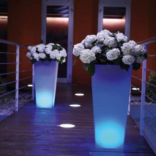 Habitación.77®: Diseño Tecnología LED Light Macetero es Trenc 38x 38cm h80cm fría)