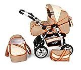 Clamaro 2 in 1 'VIP' Kombi Kinderwagen aus Aluminium inkl. Soft Babywanne und...