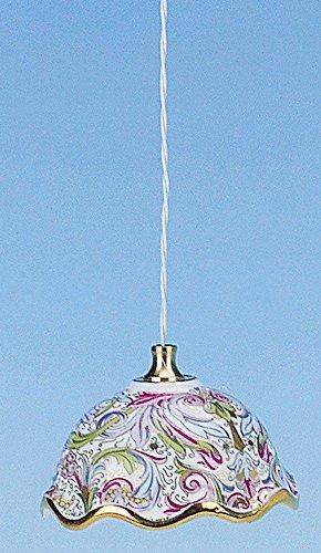 Preisvergleich Produktbild Hängelampe Porzellanschirm bunt,  12V