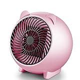BESTUNE Mini Heizlüfter Keramik Energiesparend Elektroheizer 110W 3s Schnellheitzer Abschaltautomatik Überhitzungschutz für Babyzimmer Hause Büro-Rosa