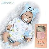 ZIY IUI 22 'Handmade Realistic Reborn Baby Doll Bambole in Vinile Morbido Silicone per Bambino miglior Regalo di Natale Compleanno