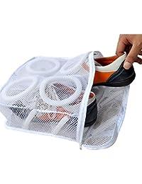 Affe portátil bolsas de lavado organizador de zapatos de almacenamiento organizador Zapatos de malla de lavandería bolsas