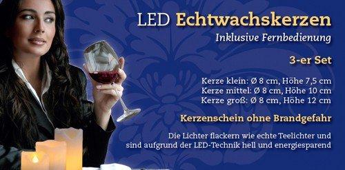 inkl. Fernbedienung de 3velas de LED